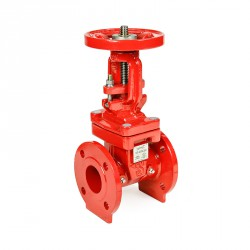 Ductile iron gate valve, os&y rising stem, 300 psi