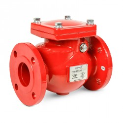 Ductile iron swing check valve, flanged type, 300 psi
