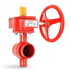 Ductile iron butterfly valve, grooved type, 300 psi