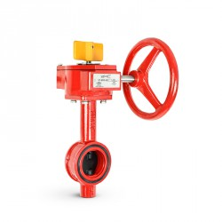 Ductile iron butterfly valve, wafer type, 300 psi
