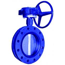 Ductile iron butterfly valve u-type pn 16