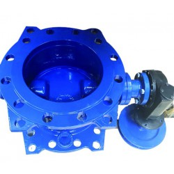 Double flanged double eccentric butterfly valve,